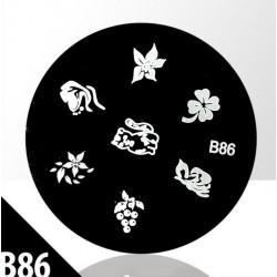 Blaszka ze wzorkami do stempli roz. XS B86