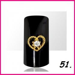 Biżuteria na paznokcie 3D z cyrkoniami 51