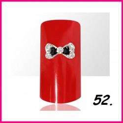 Biżuteria na paznokcie 3D z cyrkoniami 52