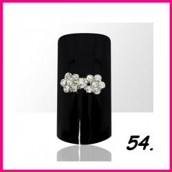 Biżuteria na paznokcie 3D z cyrkoniami 54