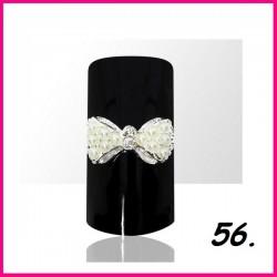 Biżuteria na paznokcie 3D z cyrkoniami 56