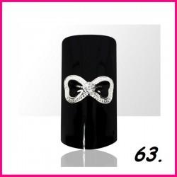 Biżuteria na paznokcie 3D z cyrkoniami 63