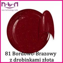 Żel kolorowy NTN 81- Bordowo-Brązowy z drobinkami złota