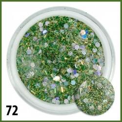 Akryl kolorowy  z drobinkami 72