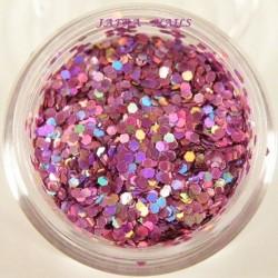 Piegi hologramowe jasno - fioletowe opalizujące w woreczku