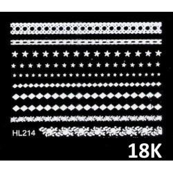 Naklejki wodne koronki białe 18K