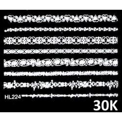 Naklejki wodne koronki białe 30K