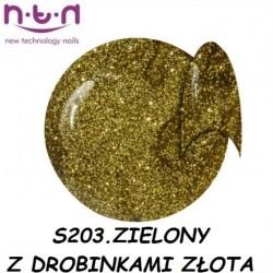 Żel kolorowy NTN S204 brązowy z drobinkami złota