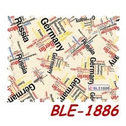 """Naklejki wodne """"Państwa,miasta"""" BLE1885"""