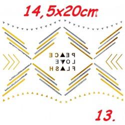 Tatuaż BOHO duży nr 13 14,5x20cm