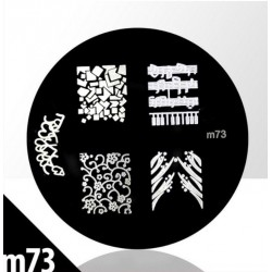 Blaszka ze wzorkami do stempli roz. XS M73