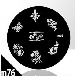 Blaszka ze wzorkami do stempli roz. XS M76