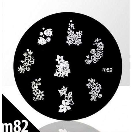 Blaszka ze wzorkami do stempli roz. XS M82
