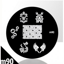 Blaszka ze wzorkami do stempli roz. XS M85