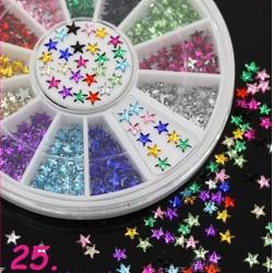 Cyrkonie kolorowe gwiazdki w karuzeli nr 25