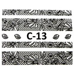 Naklejki  koronki 3D-Czarne 12