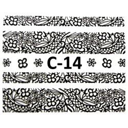 Naklejki  koronki 3D-Czarne 14
