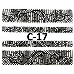 Naklejki  koronki 3D-Czarne 17
