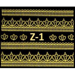 Naklejki  koronki 3D-Złote 1