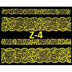 Naklejki  koronki 3D-Złote 4