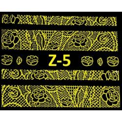 Naklejki  koronki 3D-Złote 5
