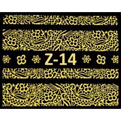 Naklejki  koronki 3D-Złote 14
