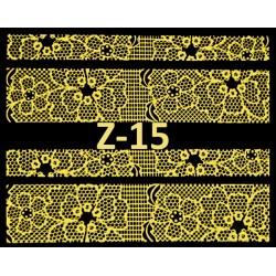 Naklejki  koronki 3D-Złote 15