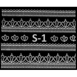 Naklejki  koronki 3D-Srebne 1