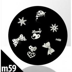 Blaszka ze wzorkami do stempli roz. XS M59