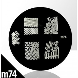 Blaszka ze wzorkami do stempli roz. XS M74