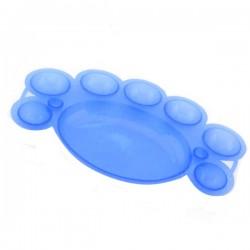 Paletka do mieszania farbek akrylowych - niebieska