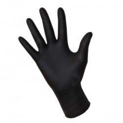 Rękawice Nitrylowe, bezpudrowe S czarne