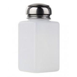 Dozownik na płyny z metalową pompką 120 ml - biały