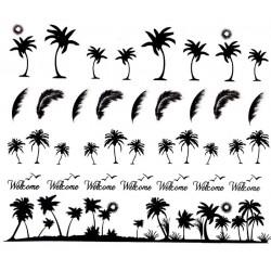Naklejki wodne YZW 172 palmy