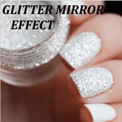 Pyłek Glitter Mirror Effect biały