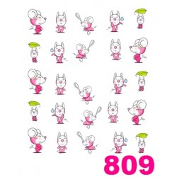 Naklejki wodne 809
