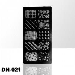 Blaszka ze wzorkami do stempli roz.S DN-021