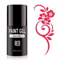 Paint Gel Suggar effect in brush - Red - 5ml