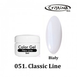 Kolorowy żel UV  - Classic Line - 051- Biały