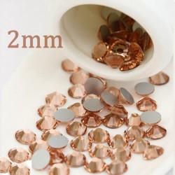 Cyrkonie Szlif  Light Peach - 2mm (nr 2)