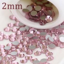 Cyrkonie Szlif Jasno Różowe - 2mm (nr 4)