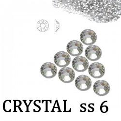 Cyrkonie Szlif Swarovski ss6 Crystal 50szt