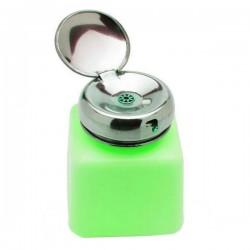 Dozownik na płyny z metalową pompką 120 ml - zielony