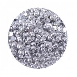 Perły metaliczne srebrne 01