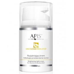 APIS Discolouration-Stop Home Terapis Rozjaśniający Krem Redukujący Przebarwienia Na Noc, 50ml