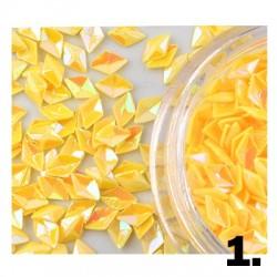 Romby 3D hologramowe - żółte