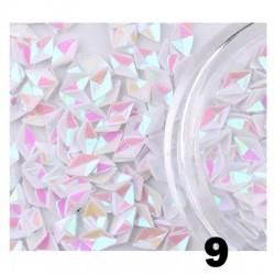 Romby 3D hologramowe - białe
