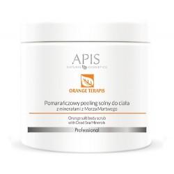 APIS Pomarańczowy peeling solny do ciała z minerałami z Morza Martwego 700g