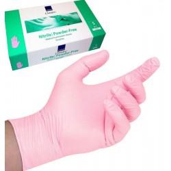 Rękawice Nitrylowe, bezpudrowe S różowe- Abena