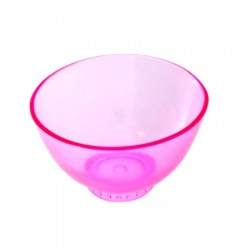 Miseczka silikonowa do alg, maseczek- różowa - S